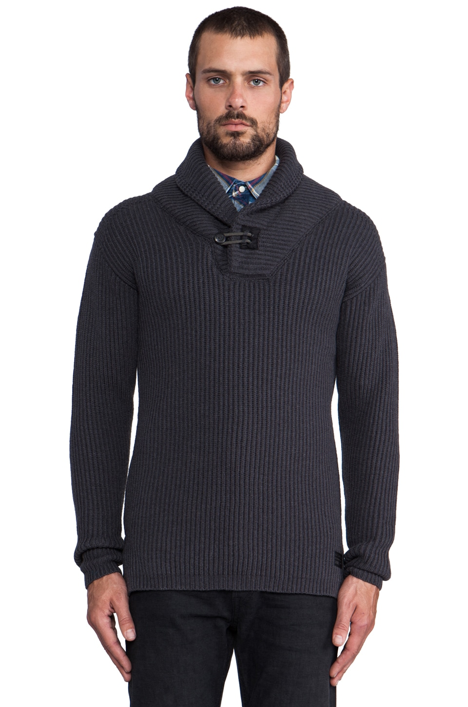 G-Star Diversity Shawl Collar Sweater in MDF