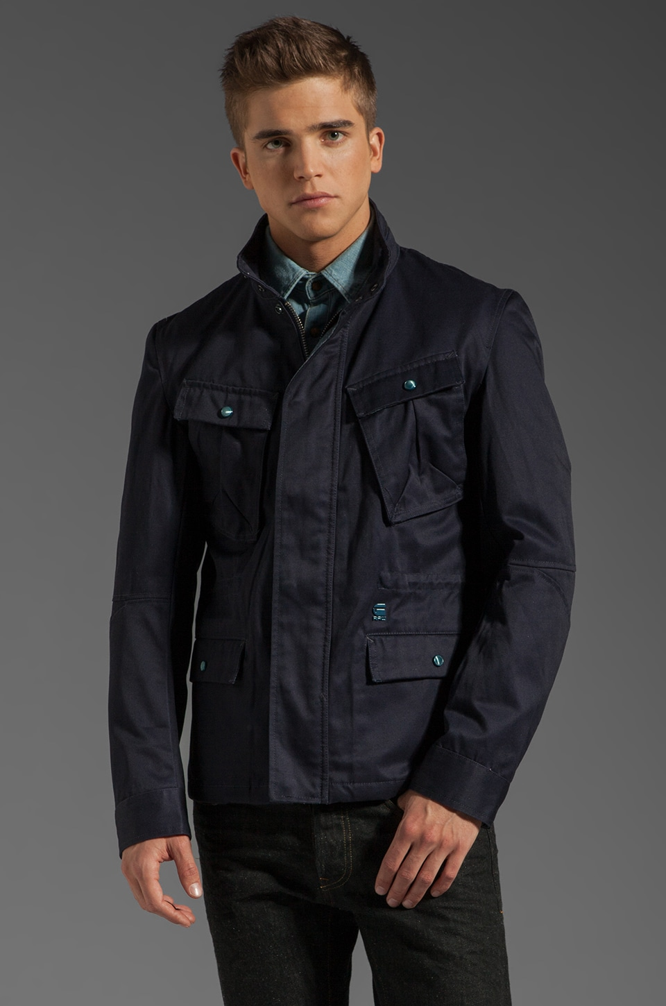 G-Star Austin City Overshirt in Naval Blue