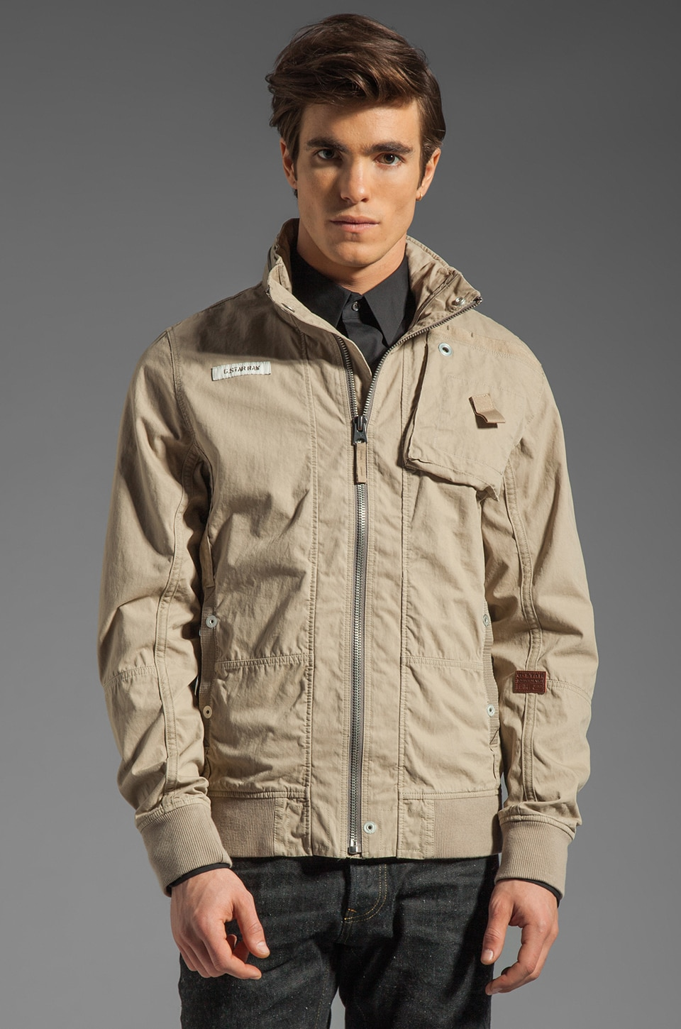 G-Star RCO Lockhart Bomber Jacket in Grege