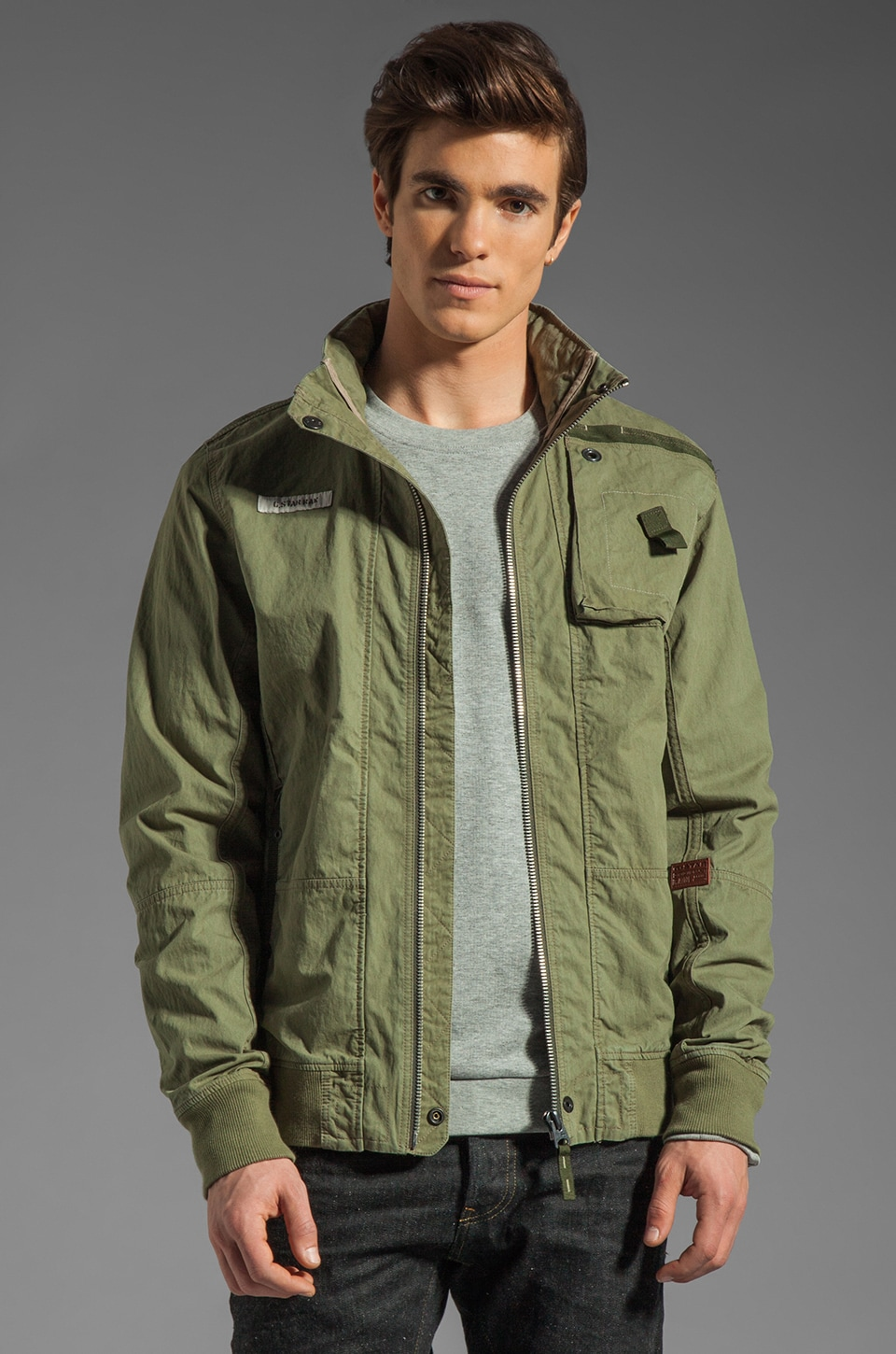 G-Star RCO Lockhart Bomber Jacket in Sage