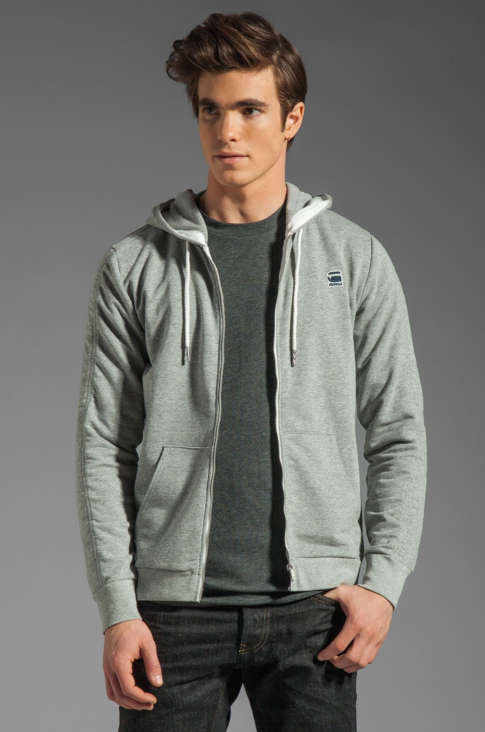 G-Star Carvell Hoodie in Grey Heather