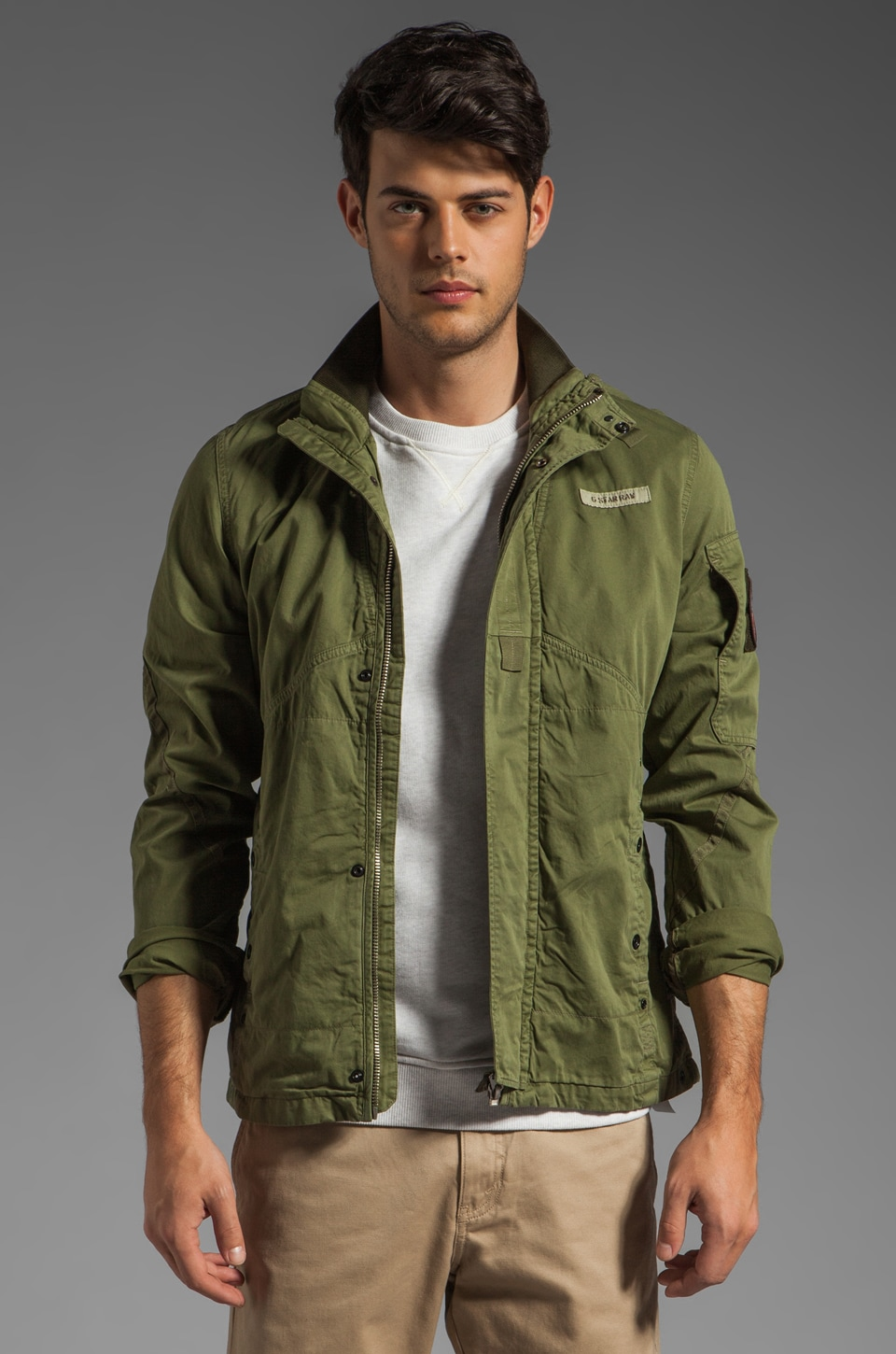 G-Star Recolite Overshirt in Sage