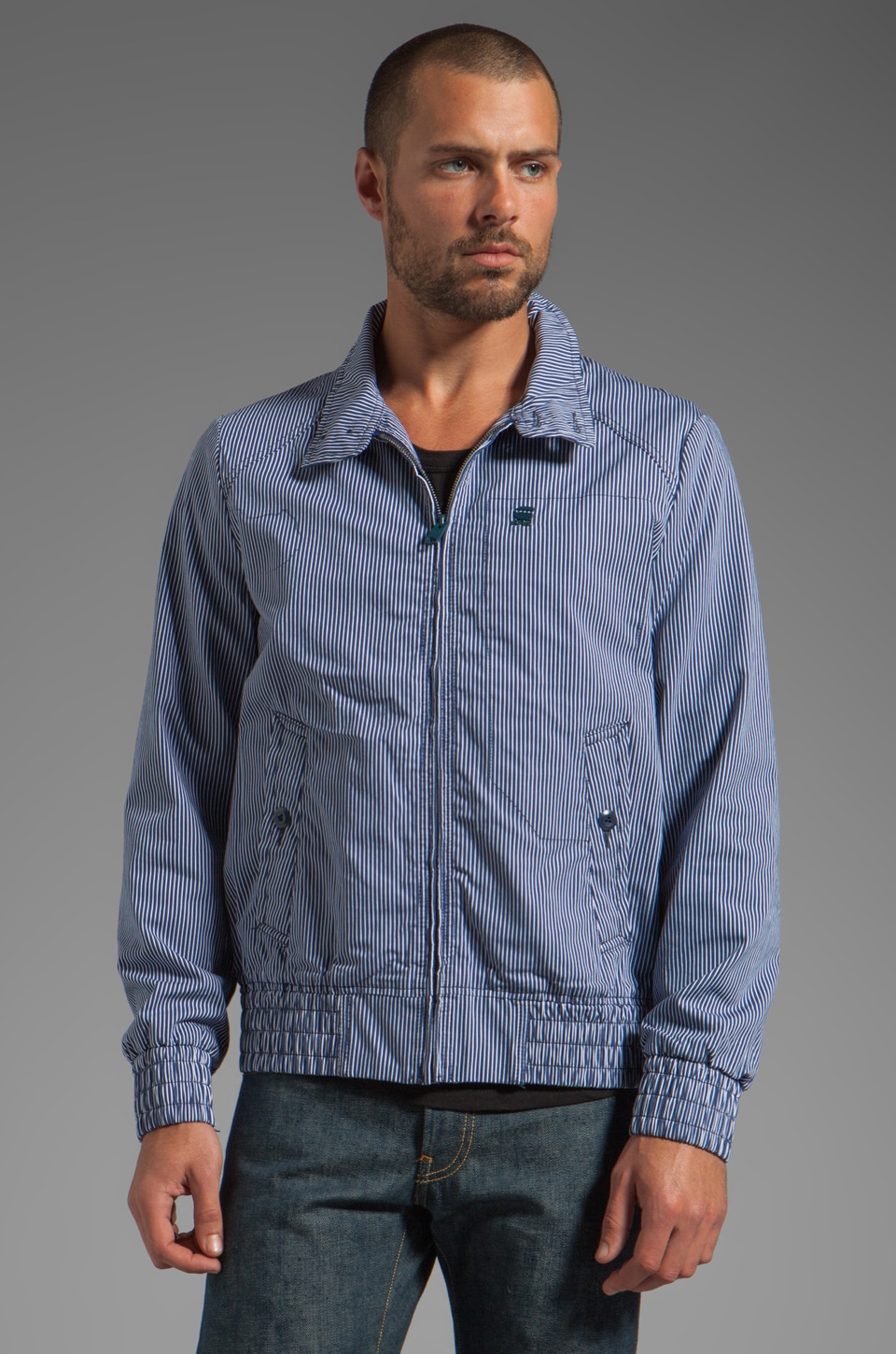 G-Star Fleet Jacket in Swedish Blue