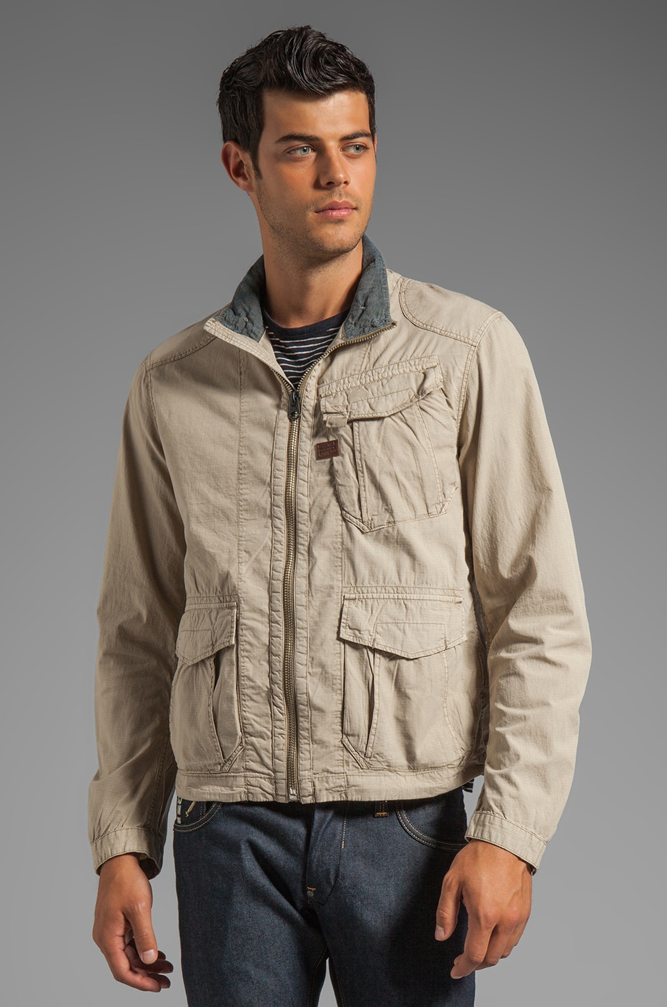 G-Star Nelson Overshirt Jacket in Khaki