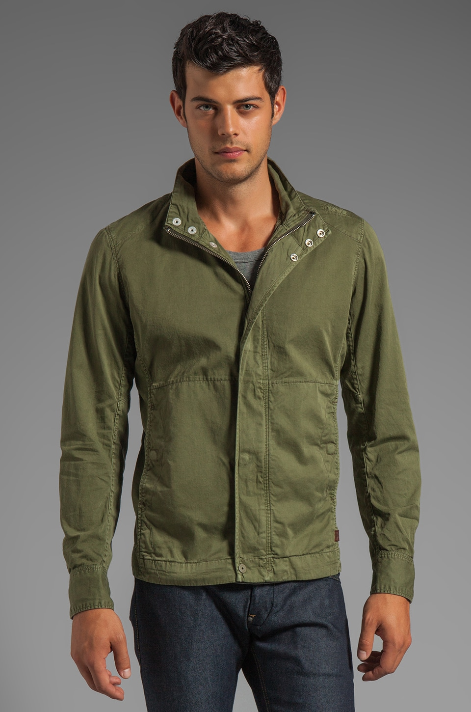 G-Star Dutton Overshirt Jacket in Sage