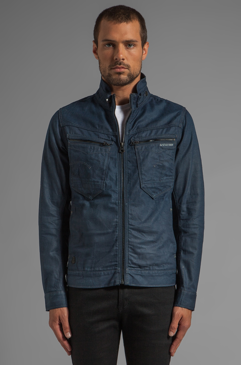 G-Star New Riley Slim Jacket in Format Blue