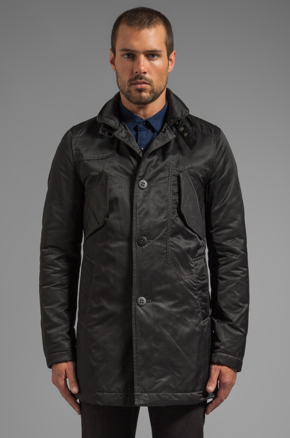G-Star Atlas Garber Trench en Noir