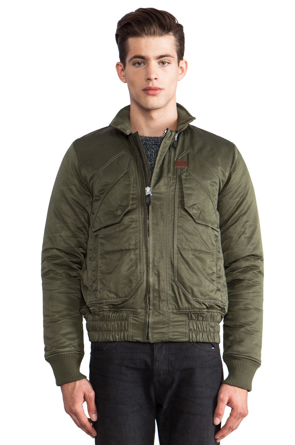 G-Star Atlas Marlow Bomber in Bright Rovic Green