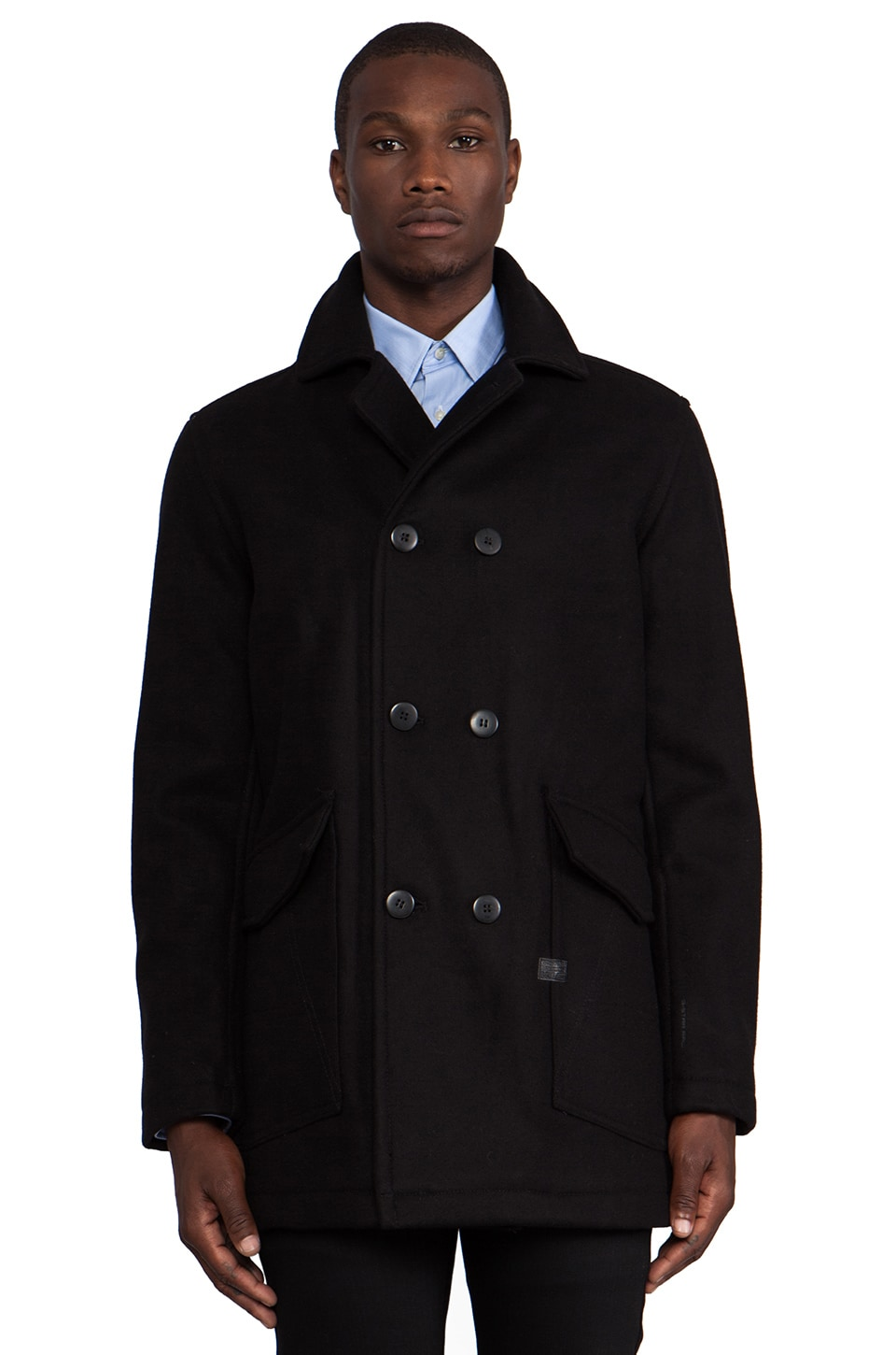 G-Star A Crotch Peacoat in Black