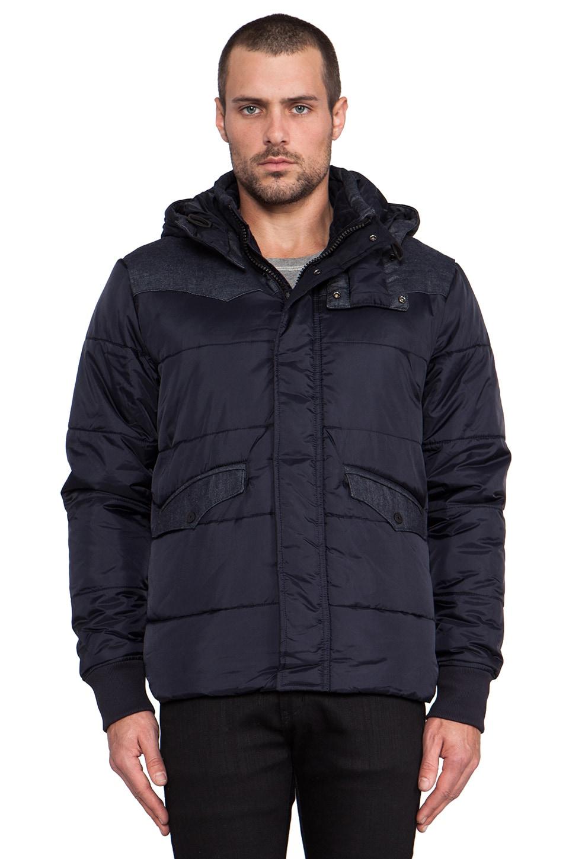 G-Star Western Padded Hooded Jacket in Mazarine Blue