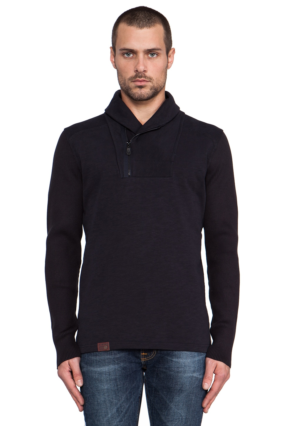 G-Star Syris Collar Sweatshirt in Mazarine Blue