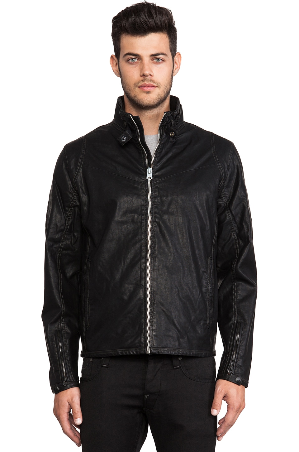 G-Star Jack Vegan Leather Jacket in Black