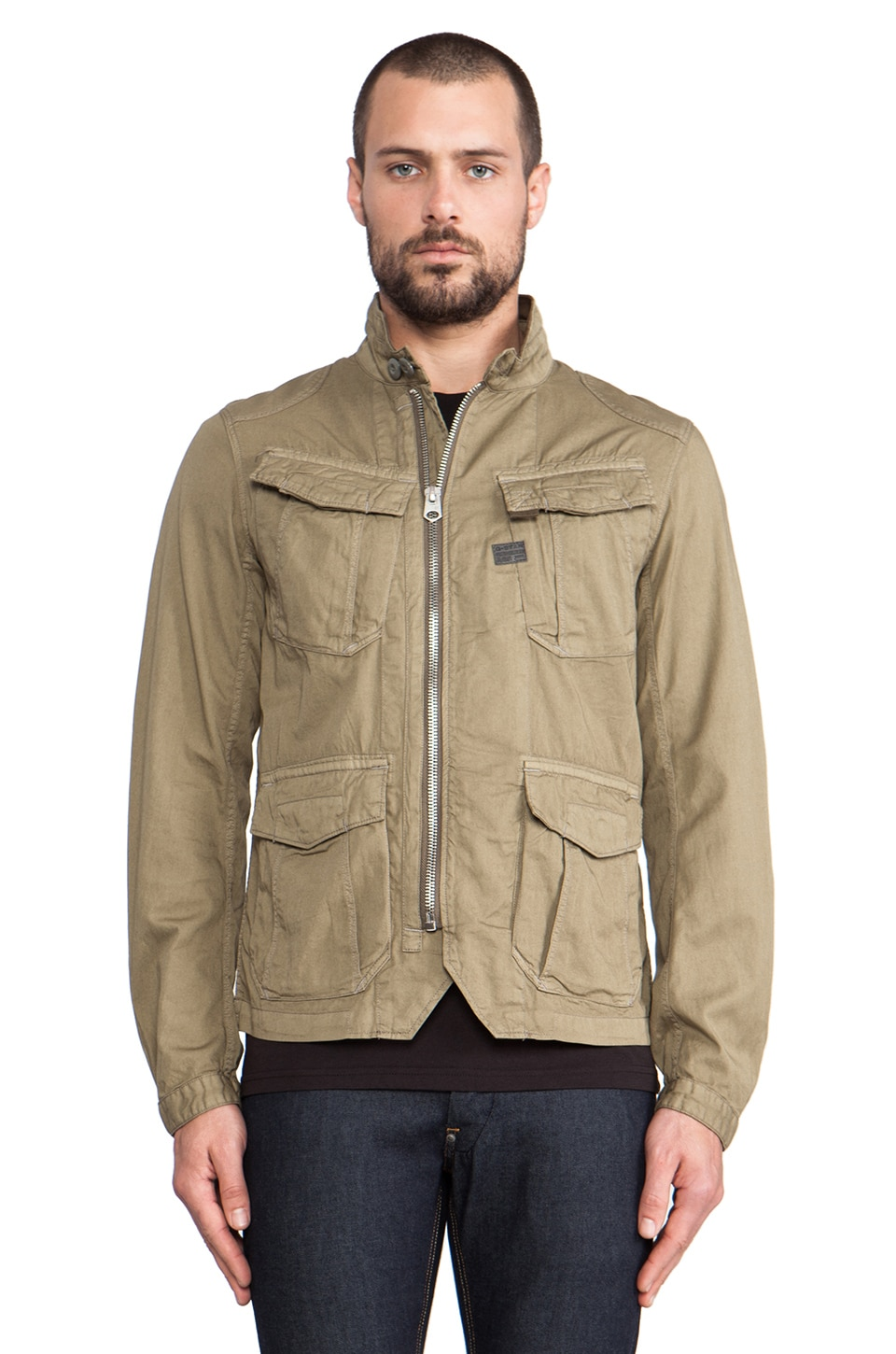 G-Star Anson Premium Overshirt in Army Green