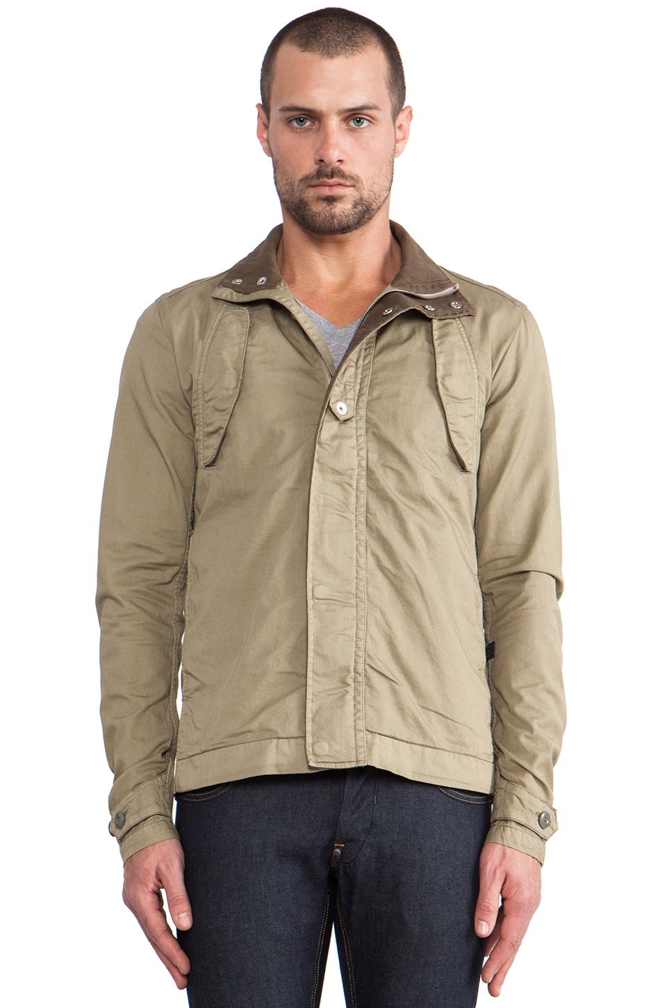G-Star Benin Overshirt Premium in Army Green