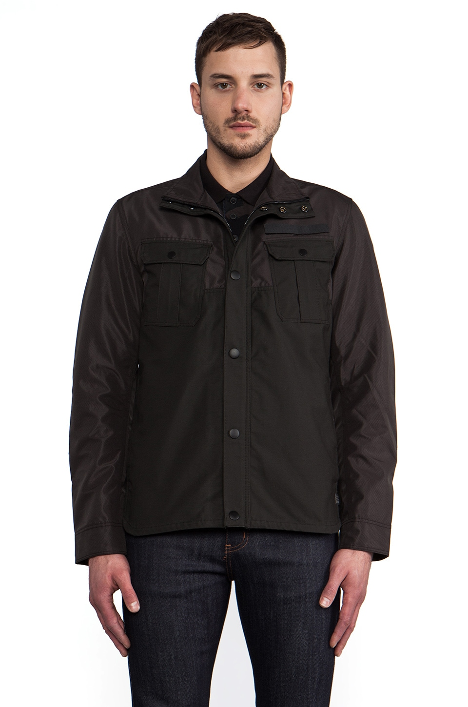 G-Star Filch Bonded Overshirt in Raven