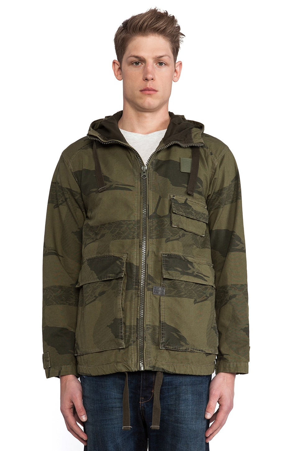 G-Star Carber Hooded Albatross Jacket in Sage