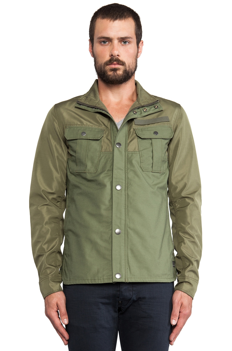 G-Star Filch Bonded Overshirt in Sage