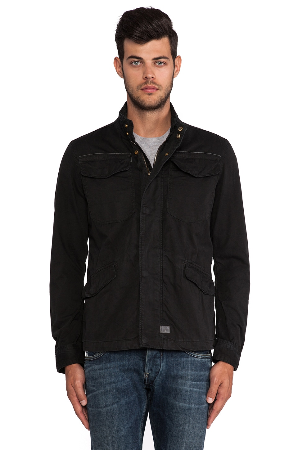 G-Star Tamson Field Overshirt in Black