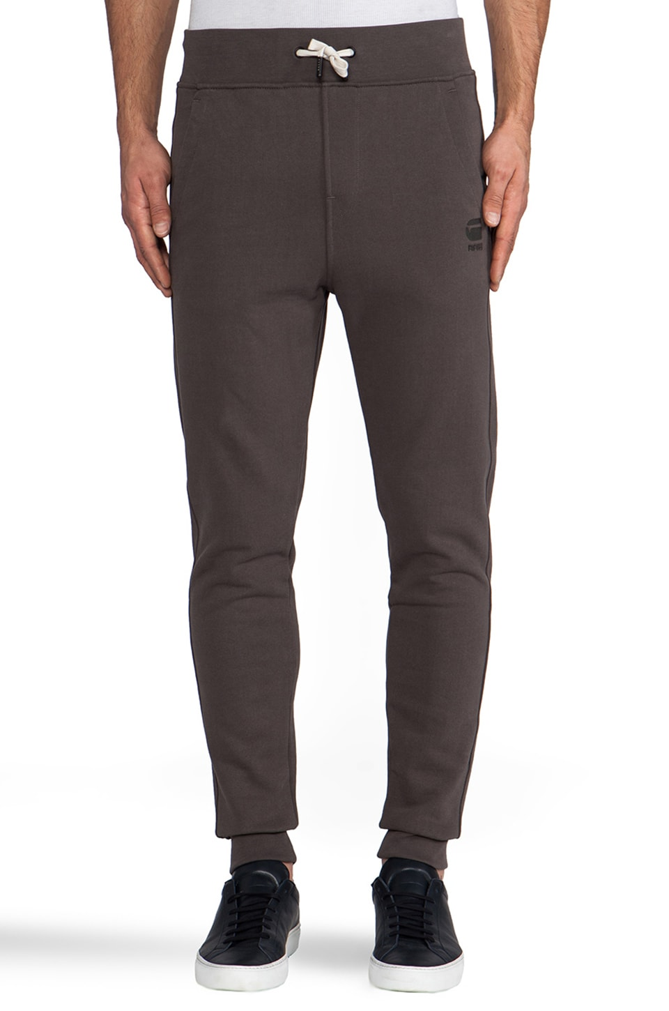 G-Star Navy Raw Sweatpant in Castor
