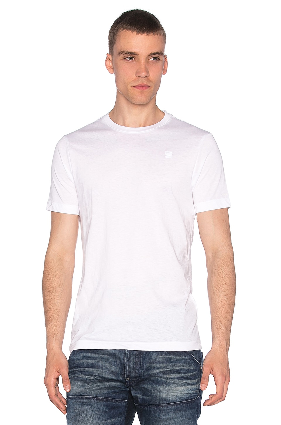 G-Star 2 Pack Crew Neck Tees White