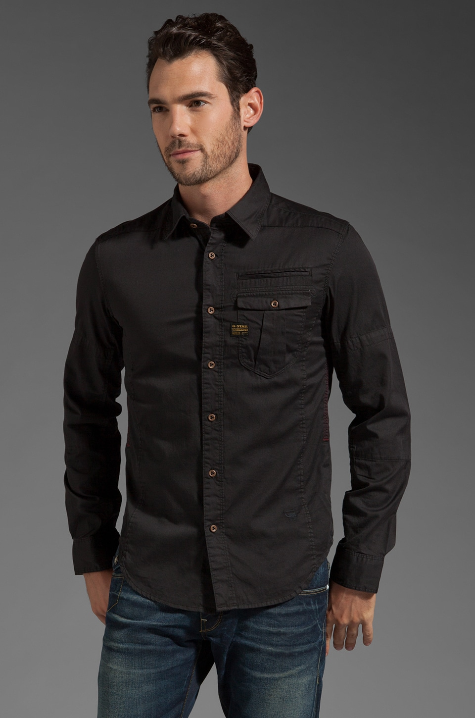 G-Star Craft Long Sleeve Shirt in Black