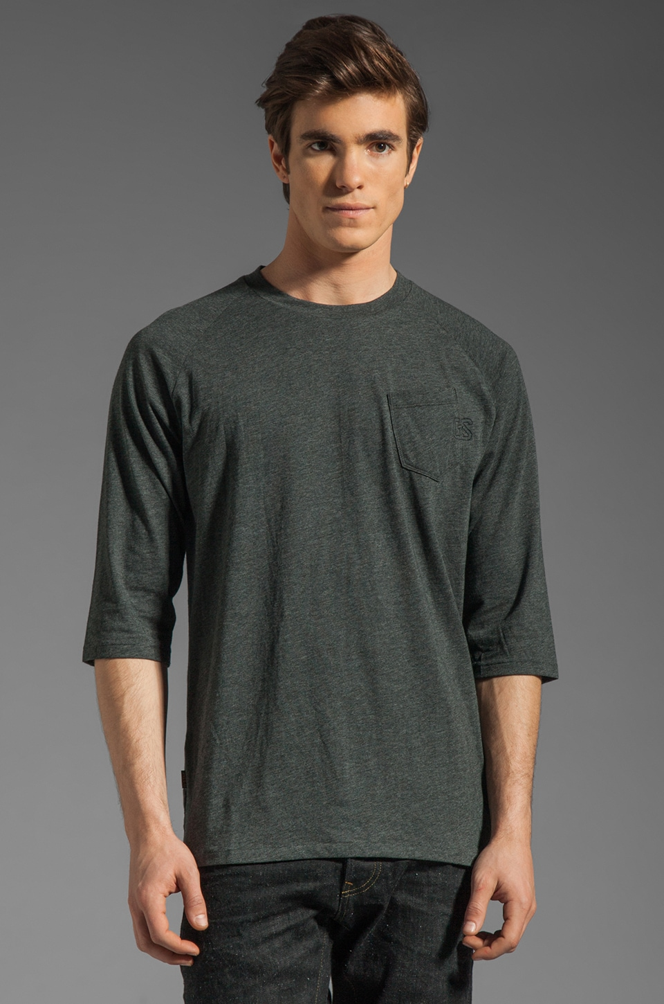 G-Star Ace 1/2 Sleeve Tee in Raven
