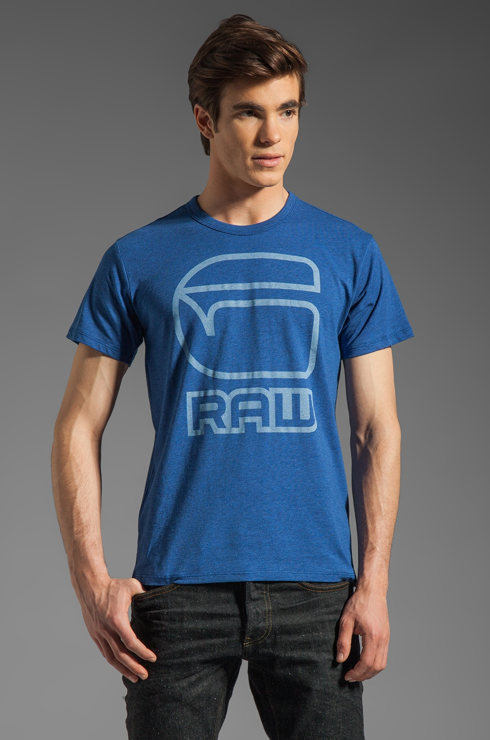 G-Star Charge Tee in True Blue Heather