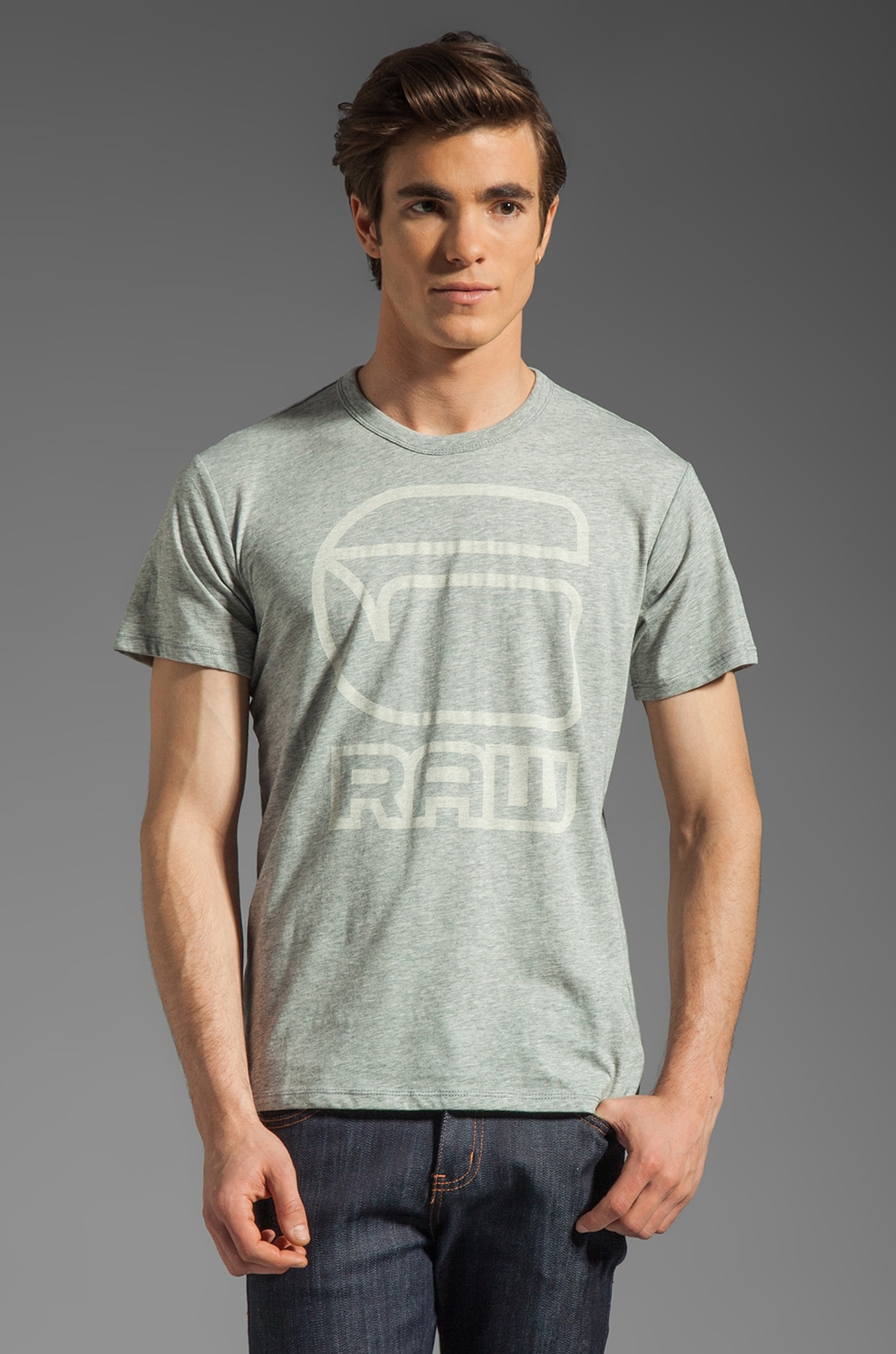 G-Star Charge Tee in Grey Heather