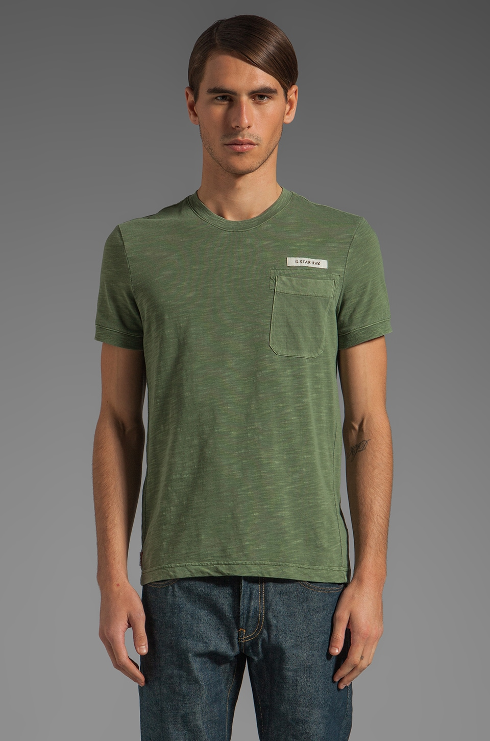 G-Star Race Tee in Sage