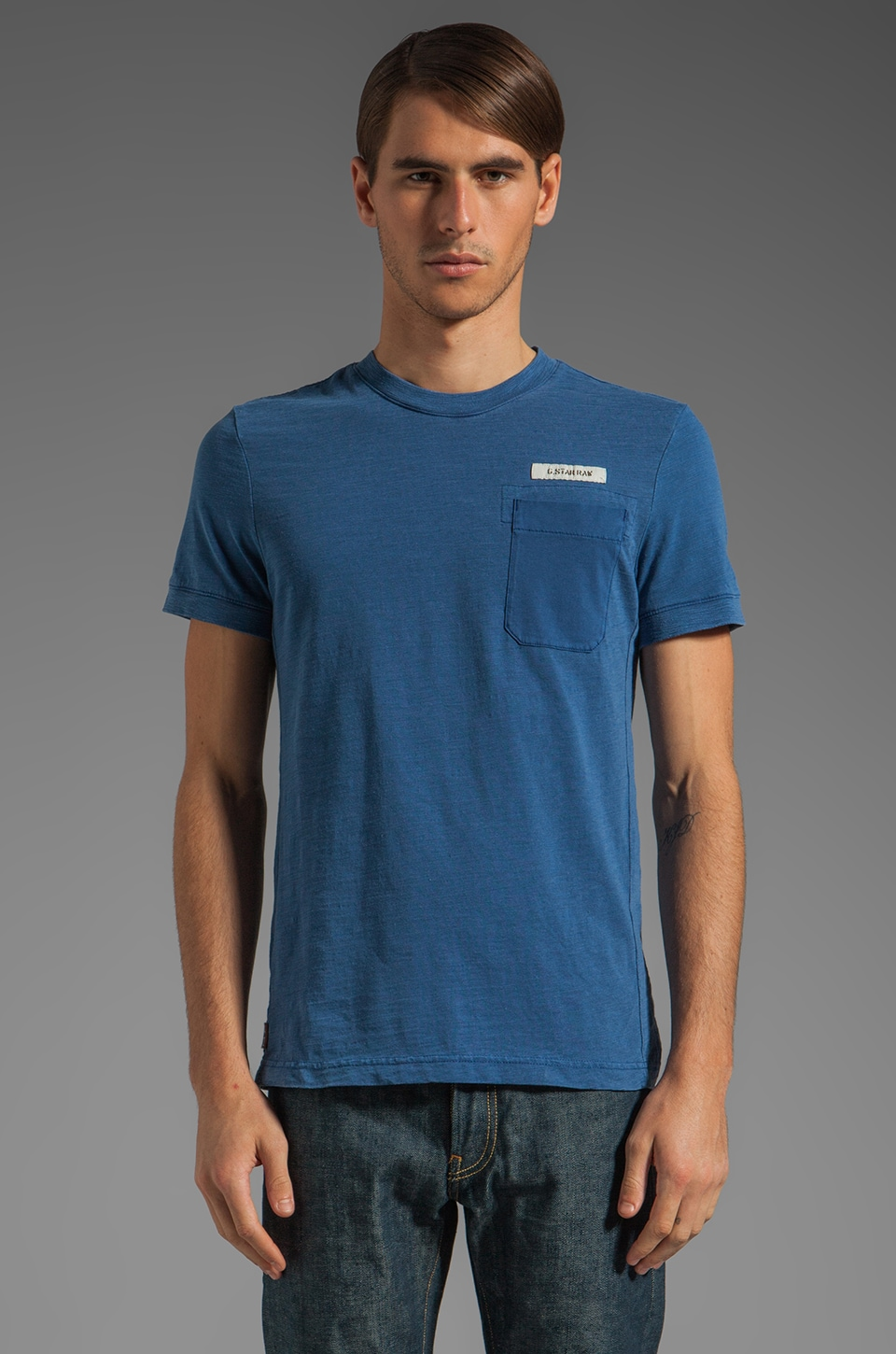 G-Star Race Tee in Deep Blue