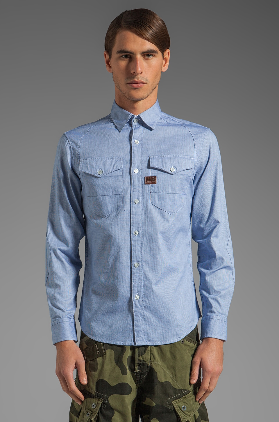 G-Star Arizona Stockton Shirt in Reflex Blue
