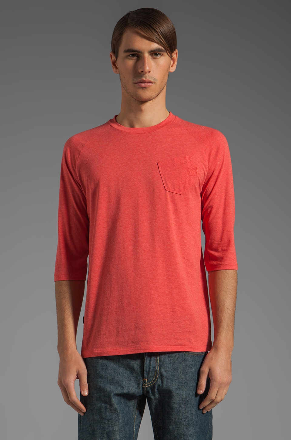G-Star Ace 1/2 Sleeve Tee in Ketchup Heather