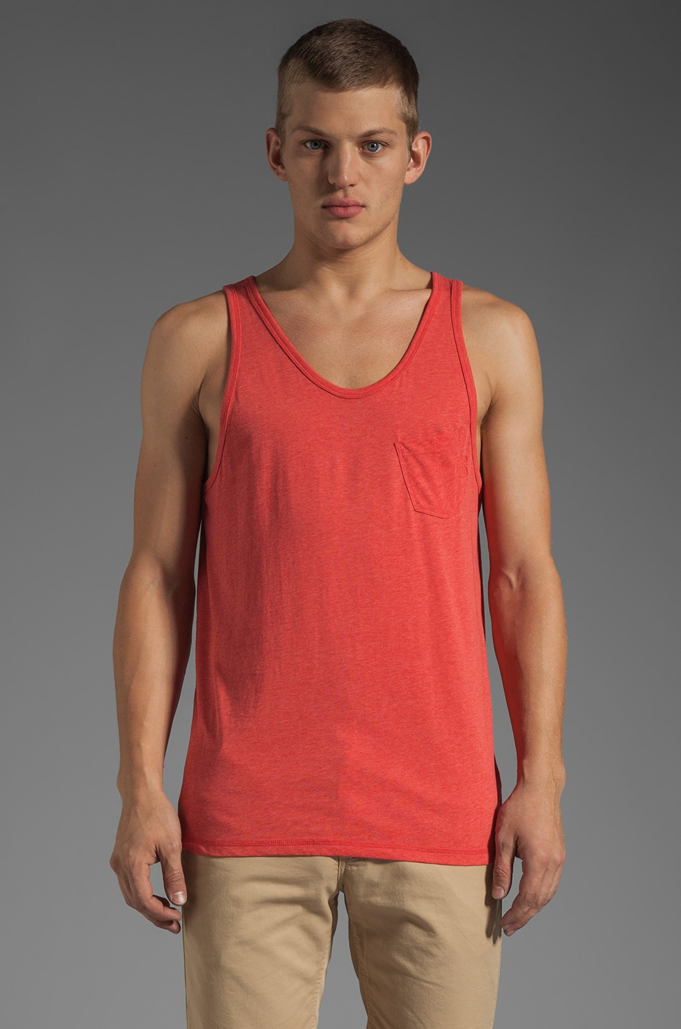 G-Star Ace Loose Tank in Ketchup Heather