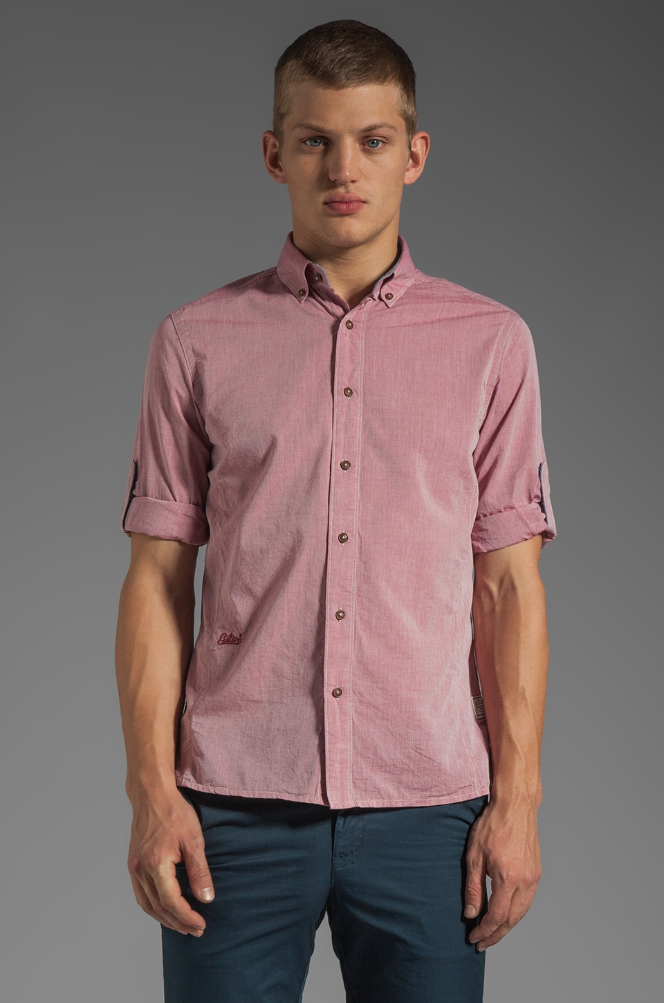 G-Star Lakewood Empire Long Sleeve Shirt in Cardinal