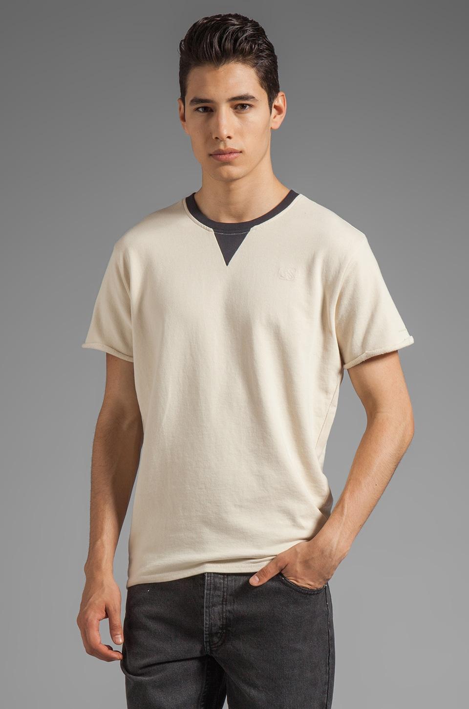 G-Star Boot Short Sleeve Sweatshirt in Chalk