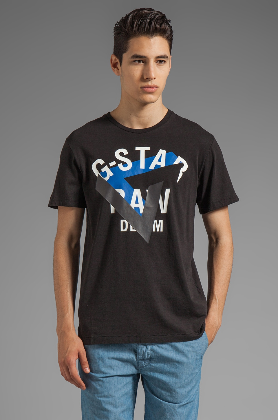 G-Star Esther Short Sleeve Tee in Black