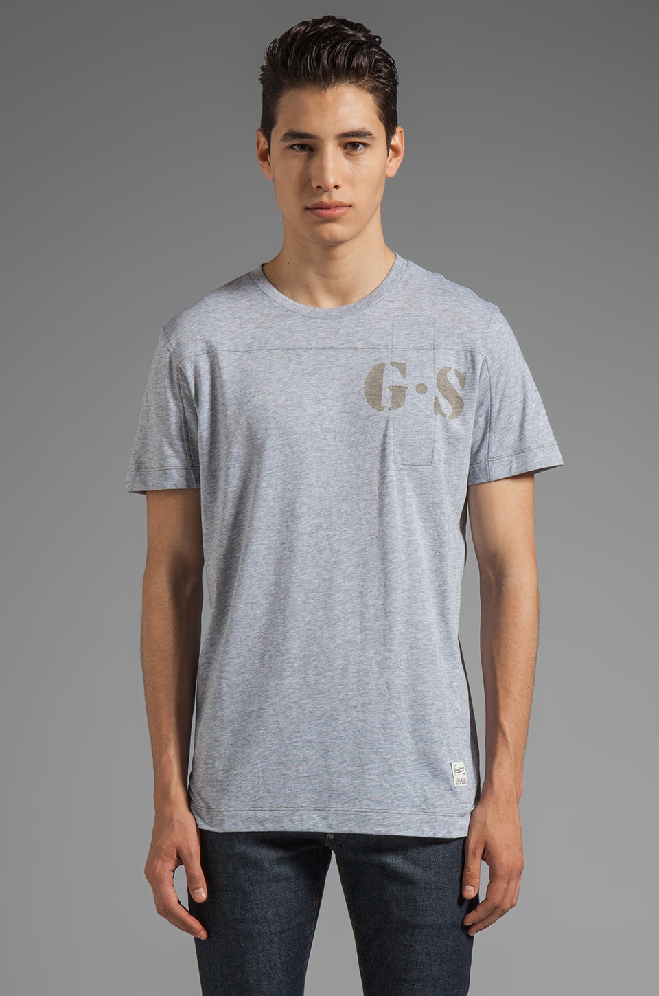 G-Star Apache Short Sleeve Tee in Grey Heather