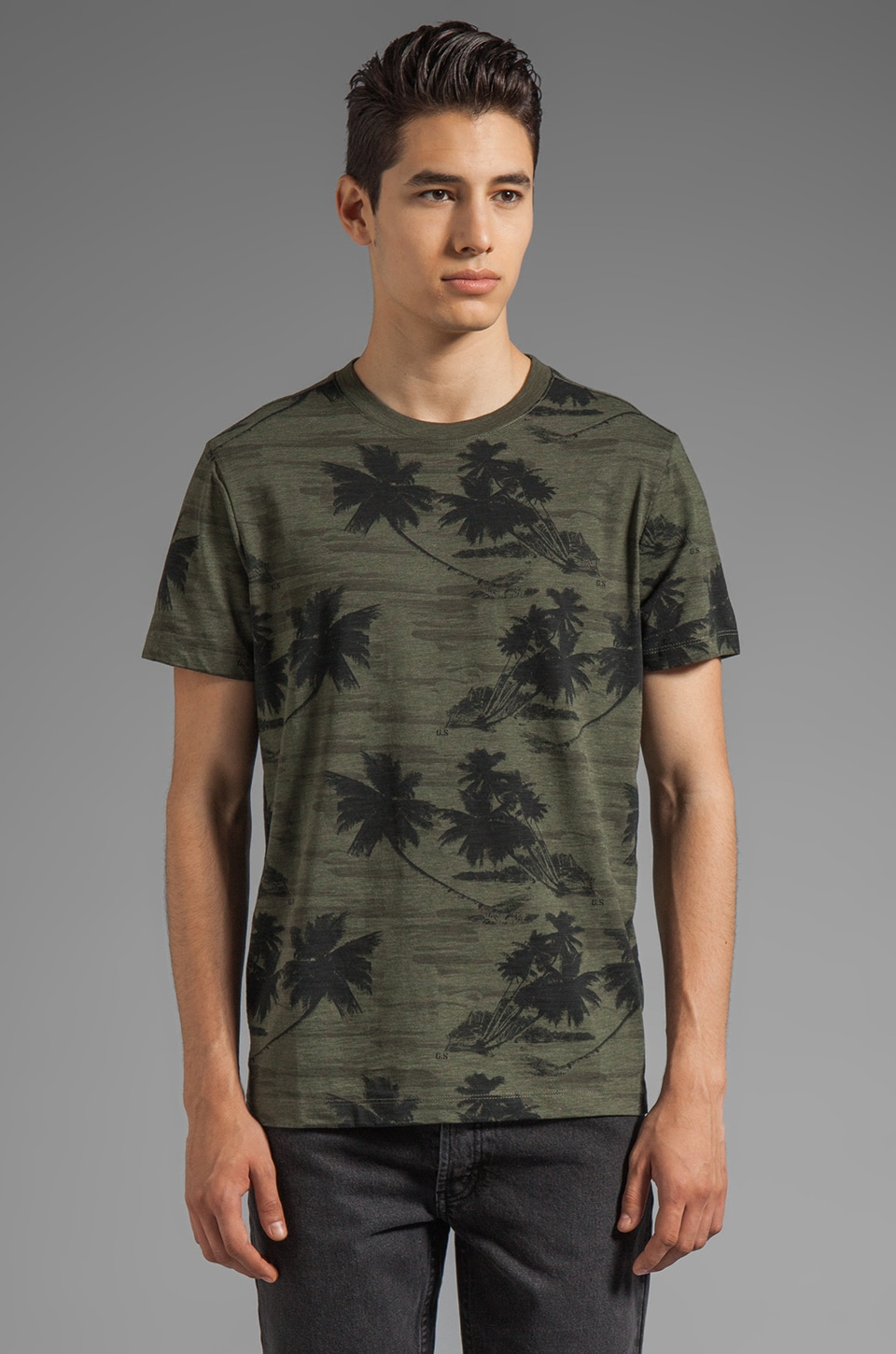 G-Star Camo R Short Sleeve Tee in Combat