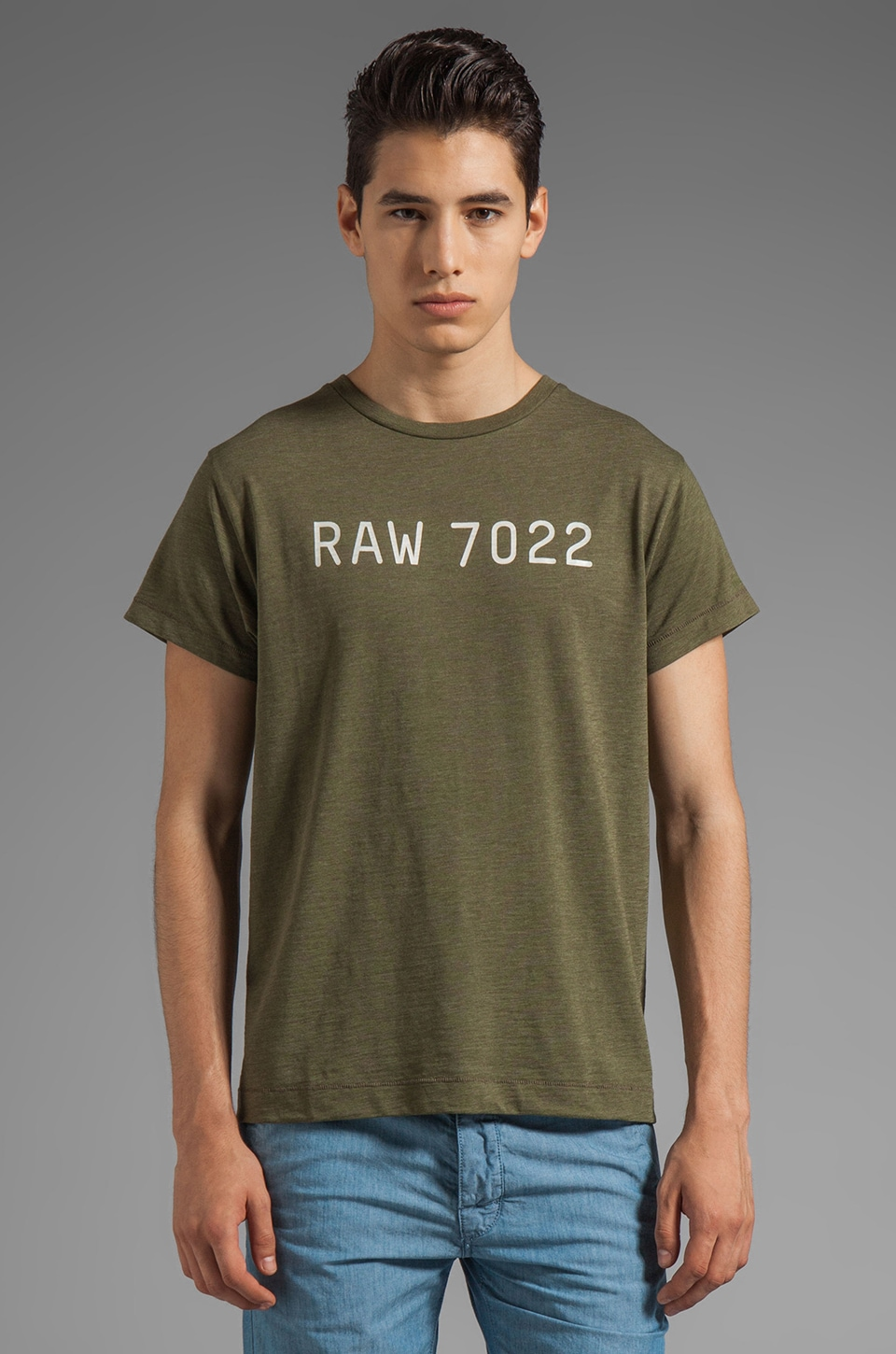 G-Star Real Short Sleeve Tee in Sage