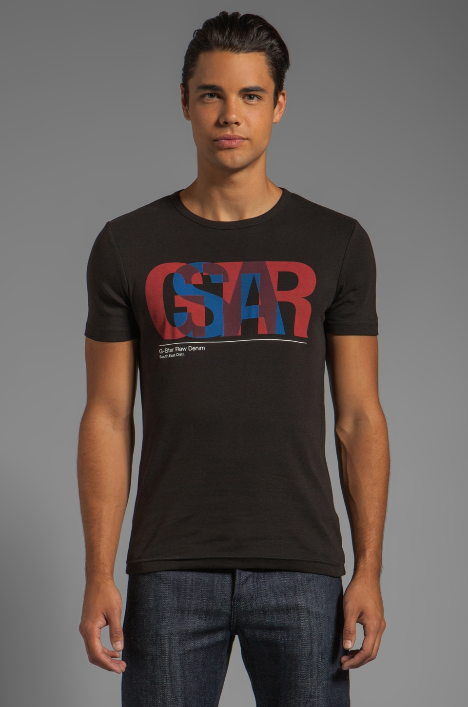 G-Star Halo R T Short Sleeve Tee in Black