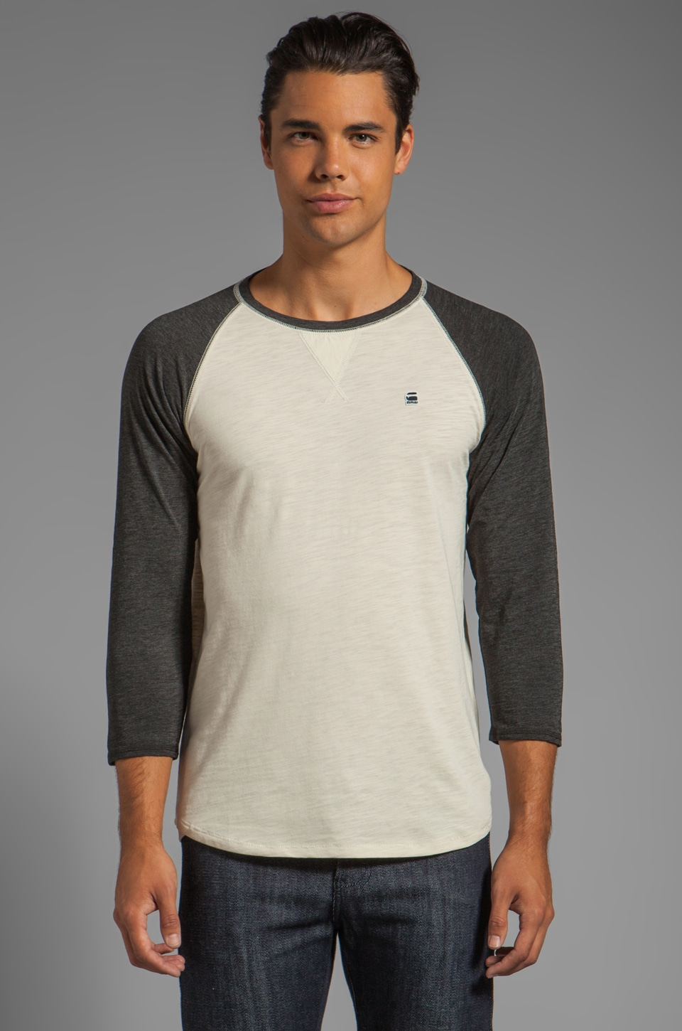 G-Star Correct Saul Baseball Tee in Black