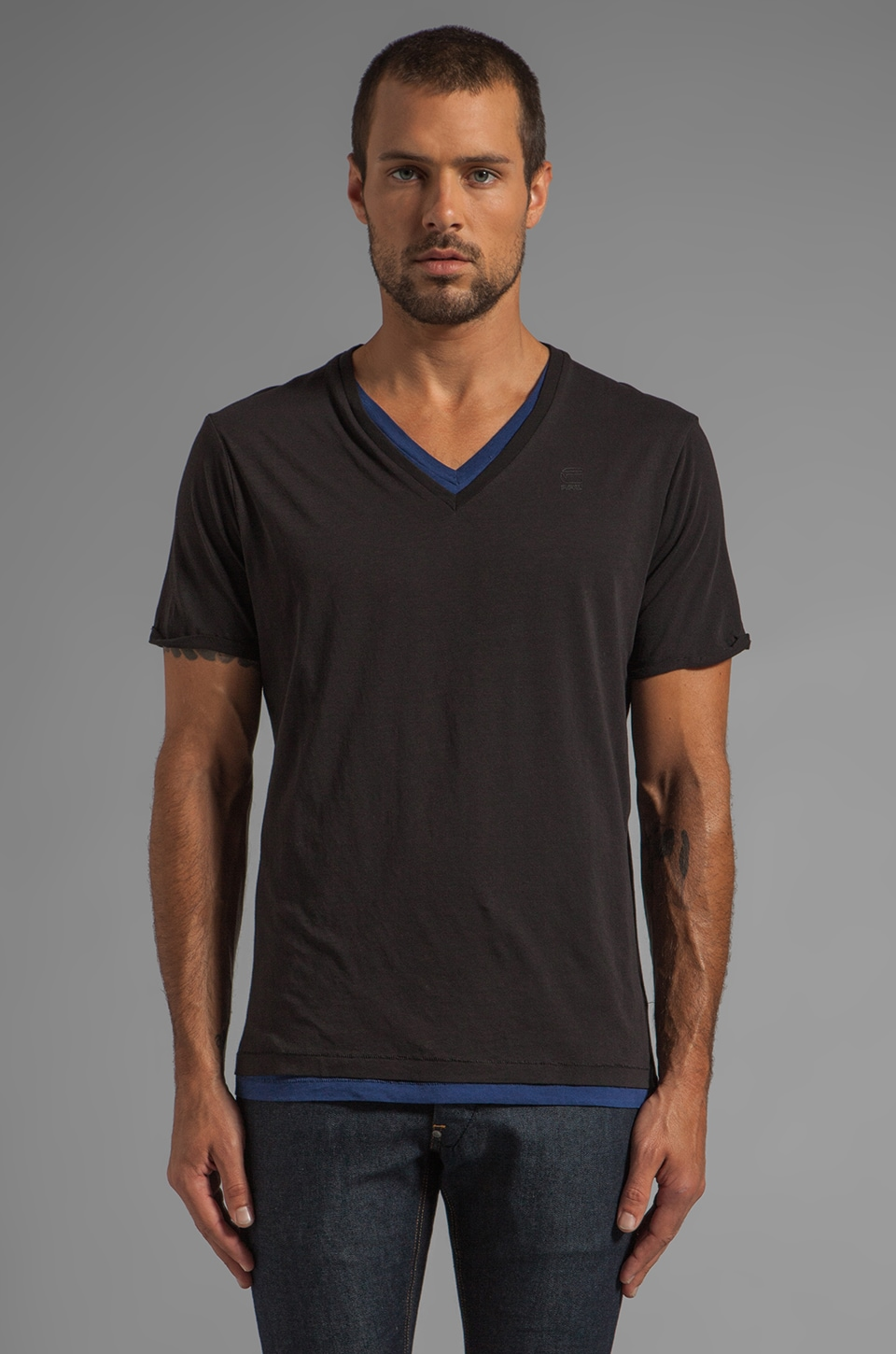 G-Star Correct Roy Tee in Black