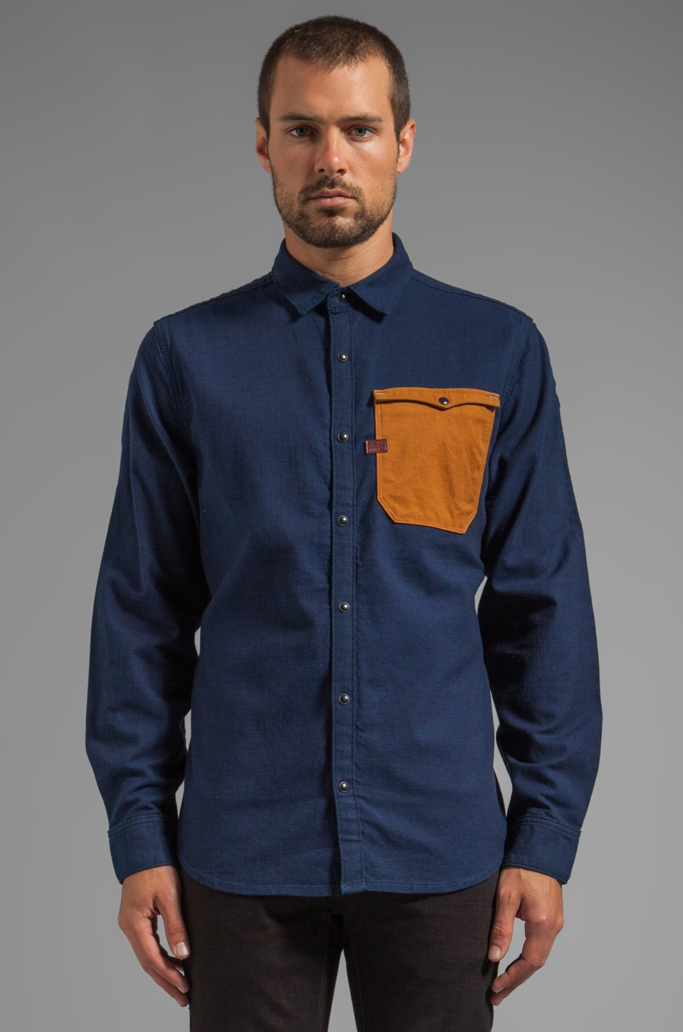G-Star Hunter Utility Mixed Shirt in Rinsed