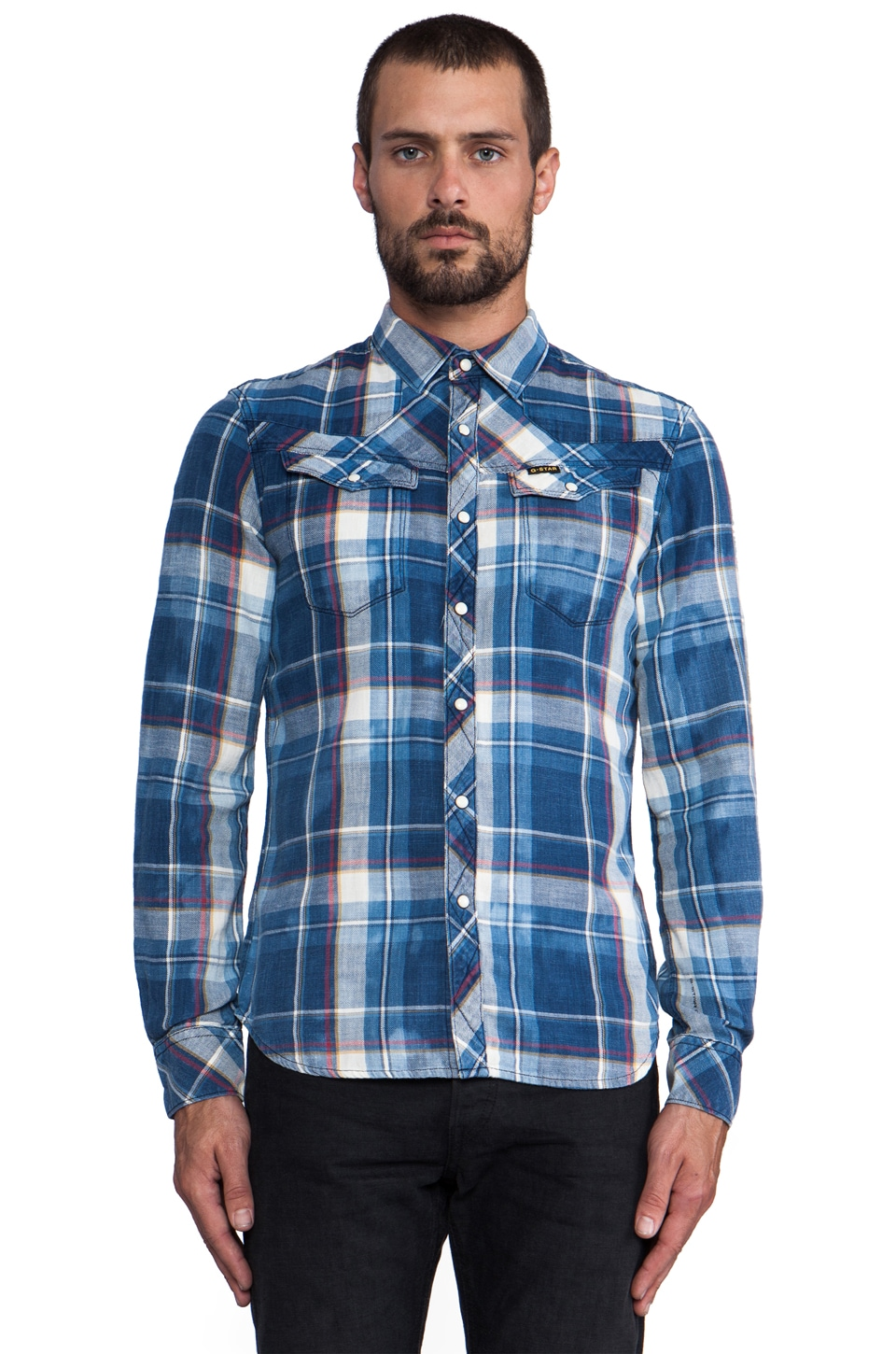 G-Star Tailor Plaid Shirt in Medium Aged