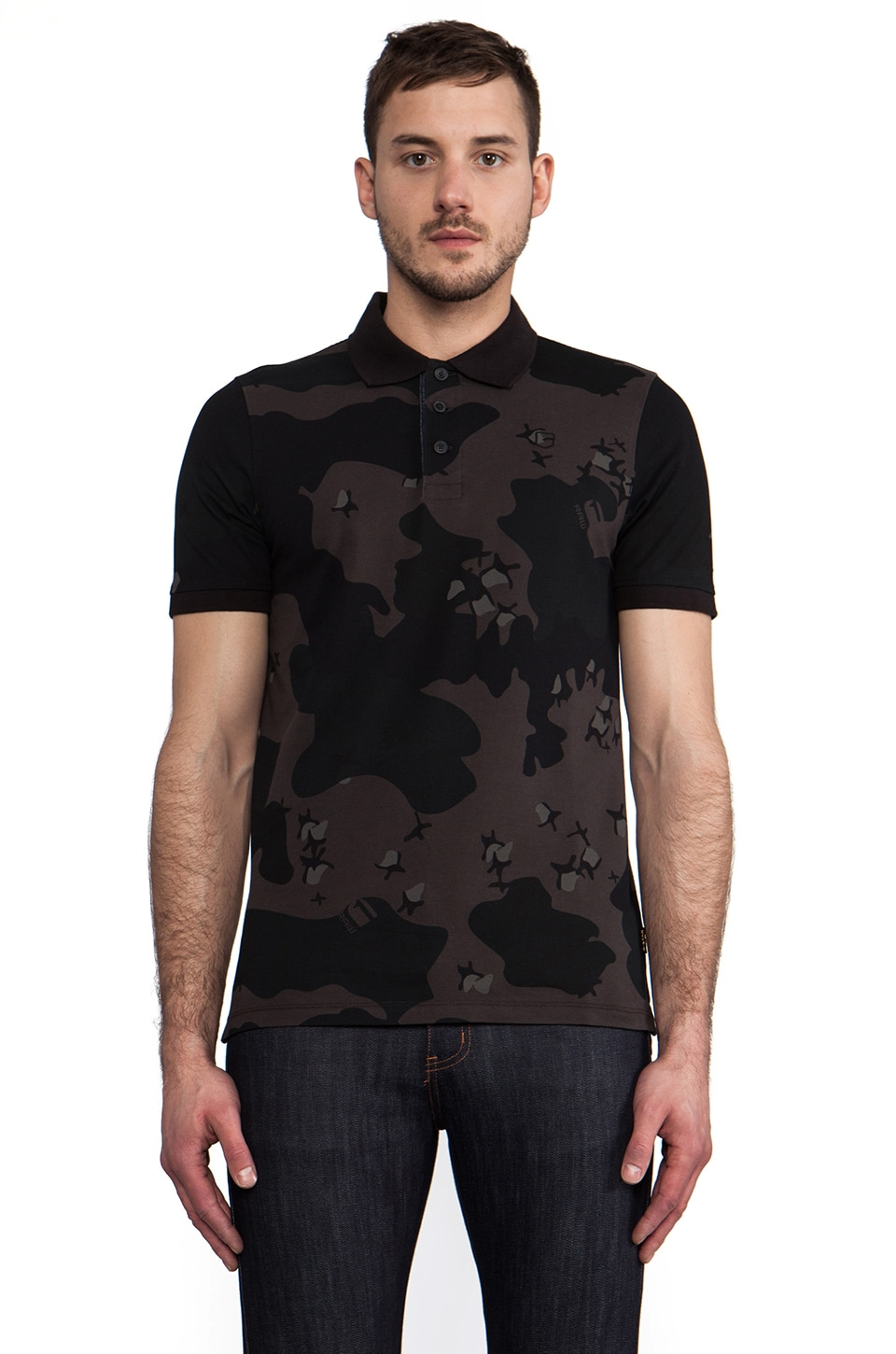 G-Star Joakim Camo Polo in Black