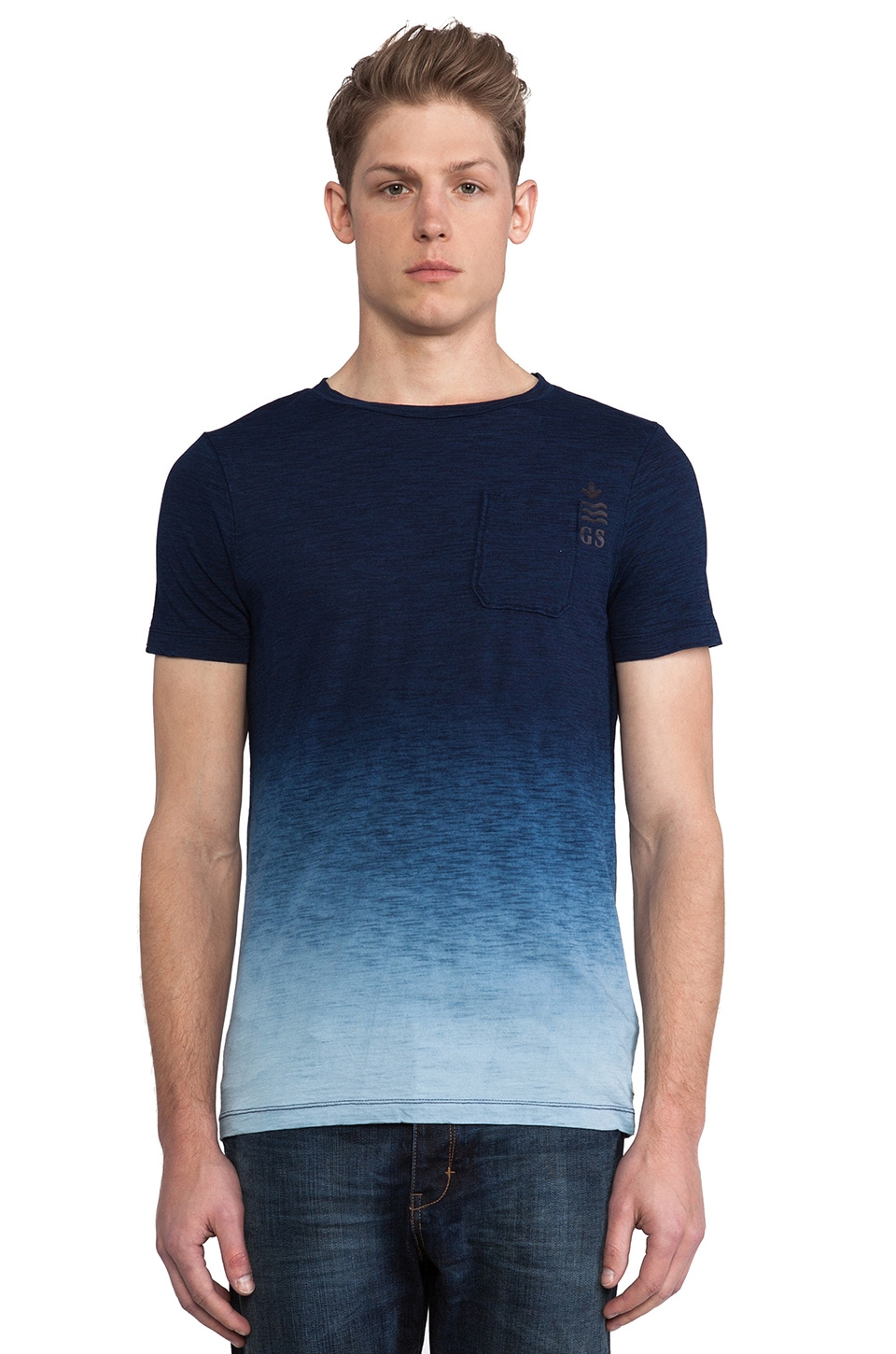 G-Star Galley Indigo Dipped T-Shirt in Indigo