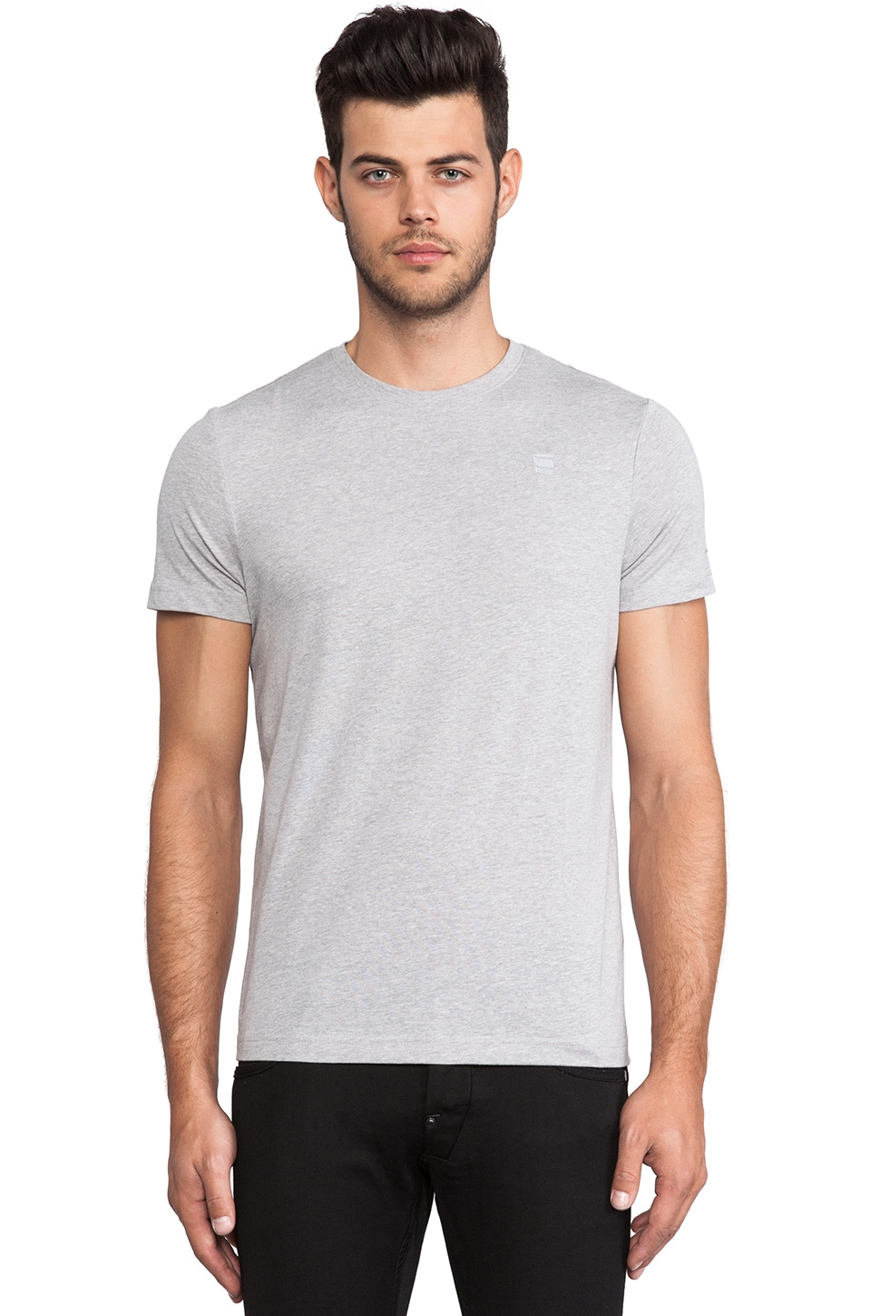 G-Star 2 Pack Crew Neck Tees in Grey Heather