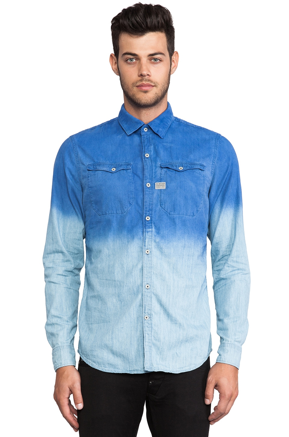 G-Star Cromart Dip Avery Denim Shirt in Indigo