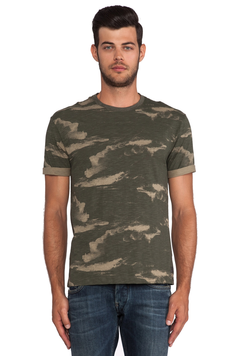 G-Star Troupman Camo Tee in Combat