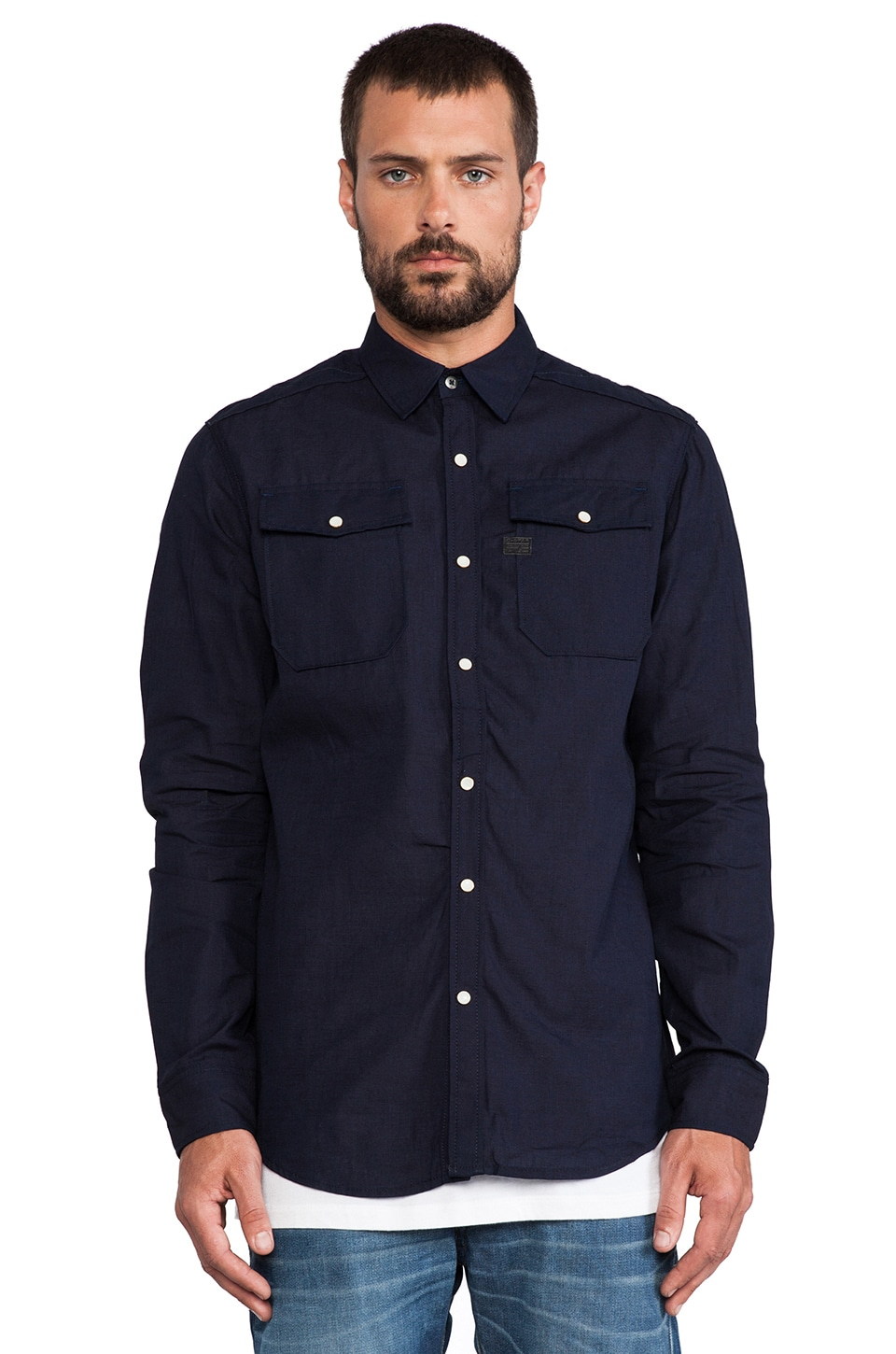 G-Star Landoh Chambray Shirt in Raw